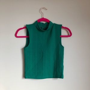 H&M Green Crop Top